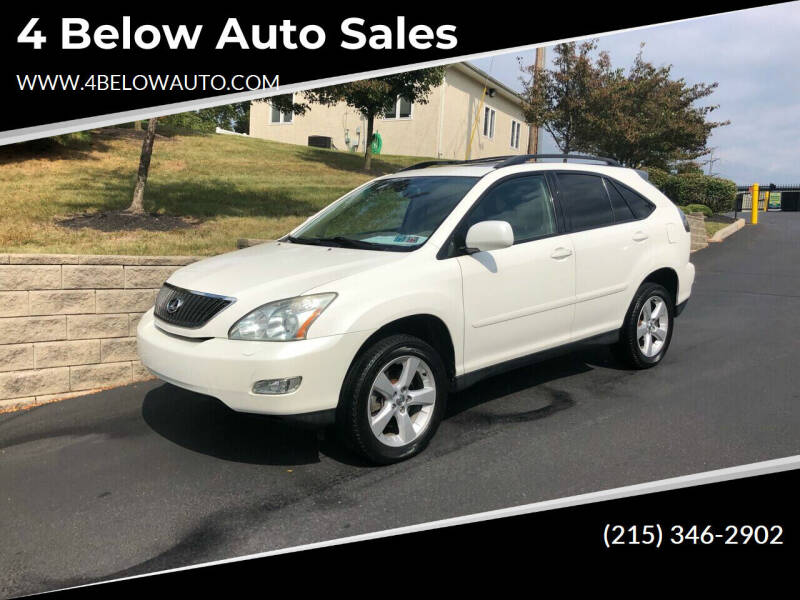 2006 Lexus RX 330 for sale at 4 Below Auto Sales in Willow Grove PA