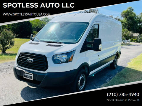 2017 Ford Transit Cargo for sale at SPOTLESS AUTO LLC in San Antonio TX