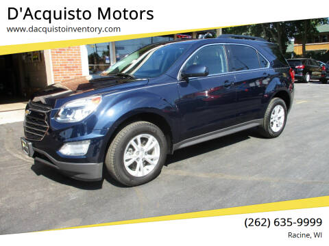 2017 Chevrolet Equinox for sale at D'Acquisto Motors in Racine WI