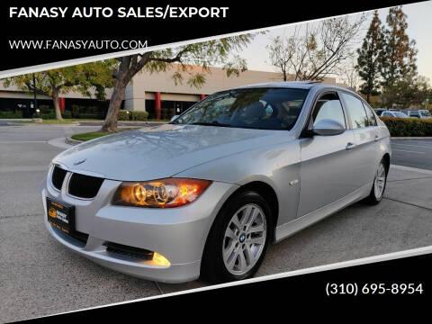 2007 BMW 3 Series for sale at FANASY AUTO SALES/EXPORT in Yorba Linda CA