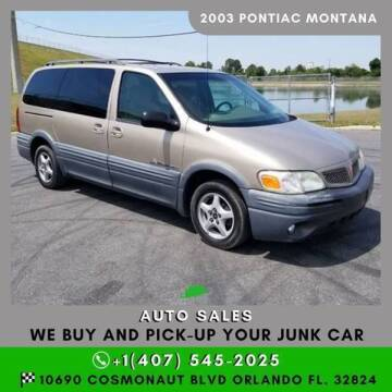 2003 Pontiac Montana for sale at Orlando Auto Sales Recycling in Orlando FL