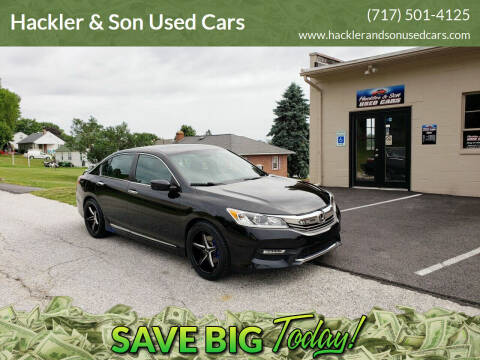 2016 Honda Accord for sale at Hackler & Son Used Cars in Red Lion PA