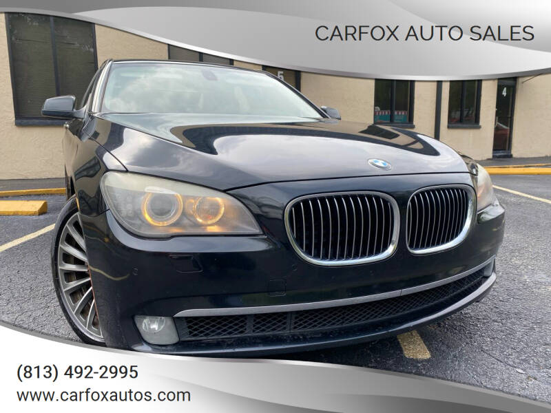 2012 BMW 7 Series for sale at Carfox Auto Sales in Tampa FL