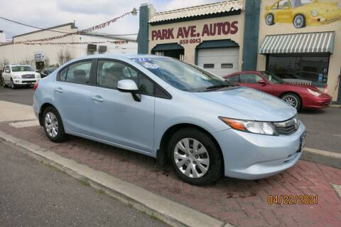 2012 Honda Civic for sale at PARK AVENUE AUTOS in Collingswood NJ
