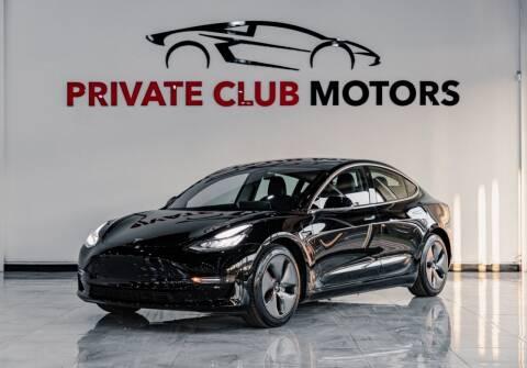 2019 Tesla Model 3 for sale at Private Club Motors in Houston TX