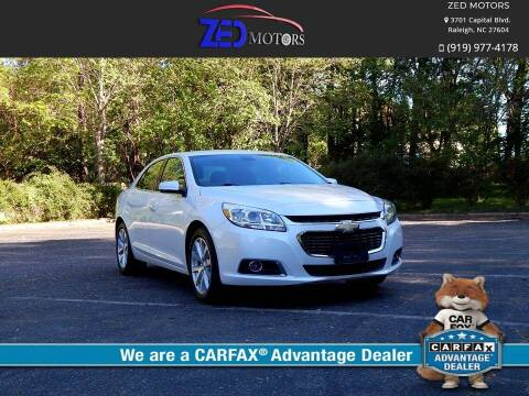 2015 Chevrolet Malibu for sale at Zed Motors in Raleigh NC