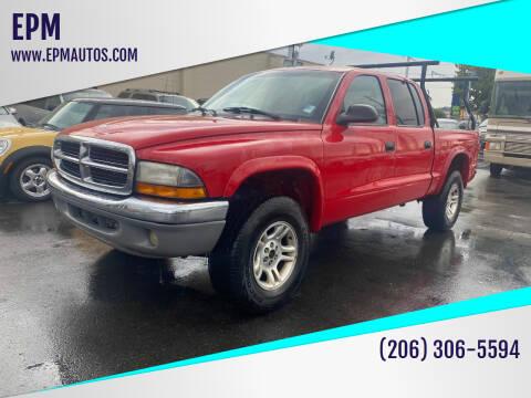 2004 Dodge Dakota for sale at EPM in Auburn WA
