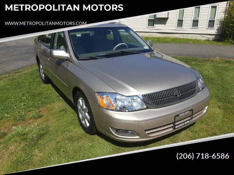 2000 Toyota Avalon for sale at METROPOLITAN MOTORS in Kirkland WA