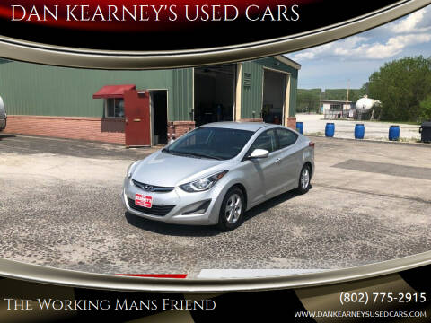2015 Hyundai Elantra for sale at DAN KEARNEY'S USED CARS in Center Rutland VT