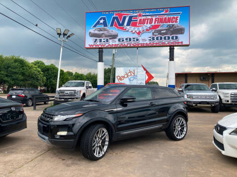 2013 Land Rover Range Rover Evoque Coupe for sale at ANF AUTO FINANCE in Houston TX