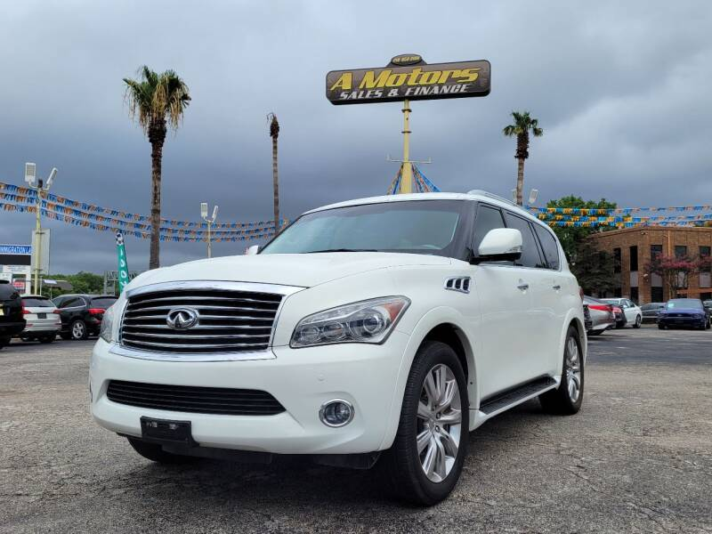 2013 Infiniti QX56 for sale at A MOTORS SALES AND FINANCE in San Antonio TX
