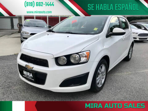 2016 Chevrolet Sonic for sale at Mira Auto Sales in Raleigh NC
