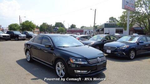 2014 Volkswagen Passat for sale at RVA MOTORS in Richmond VA
