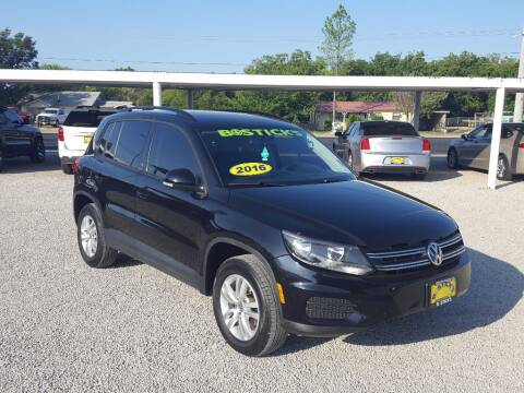 2016 Volkswagen Tiguan for sale at Bostick's Auto & Truck Sales in Brownwood TX