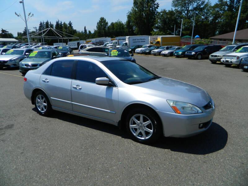2003 Honda Accord for sale at J & R Motorsports in Lynnwood WA