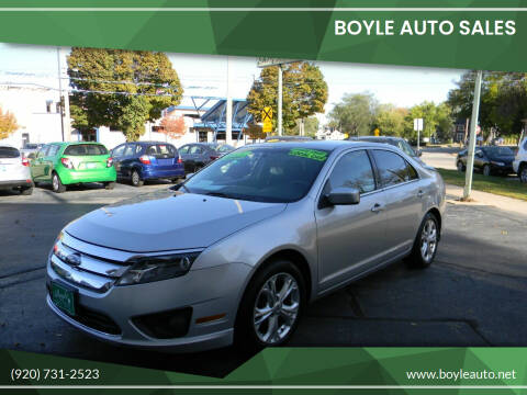 2012 Ford Fusion for sale at Boyle Auto Sales in Appleton WI