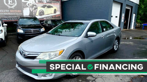 2012 Toyota Camry for sale at ELITE MOTORS in West Haven CT