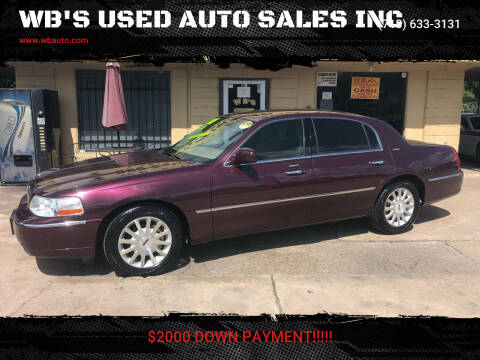 2006 Lincoln Town Car for sale at WB'S USED AUTO SALES INC in Houston TX