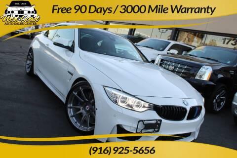 2015 BMW M4 for sale at West Coast Auto Sales Center in Sacramento CA