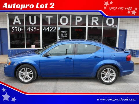 2014 Dodge Avenger for sale at Autopro Lot 2 in Sunbury PA