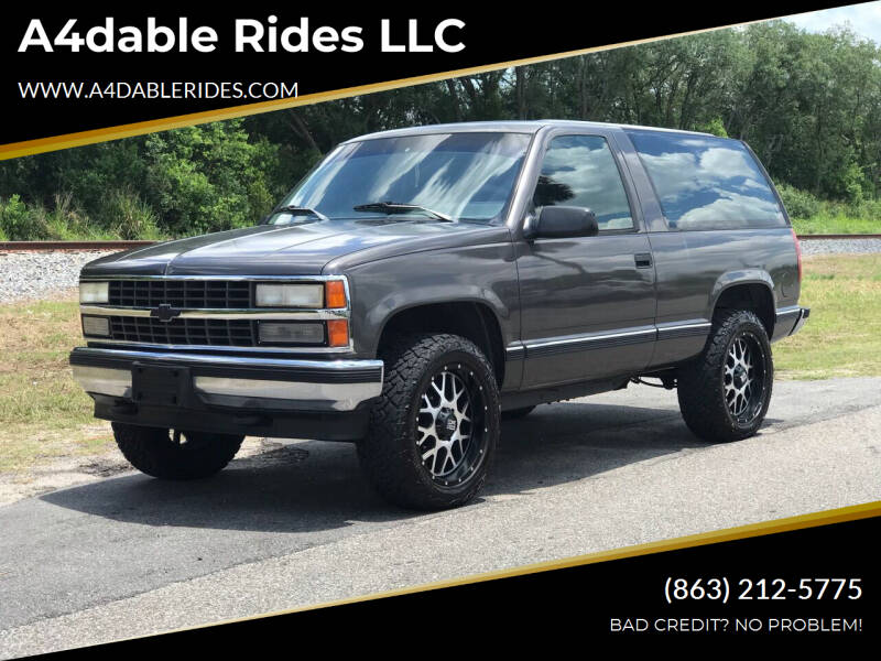 1992 Chevrolet Blazer for sale at A4dable Rides LLC in Haines City FL