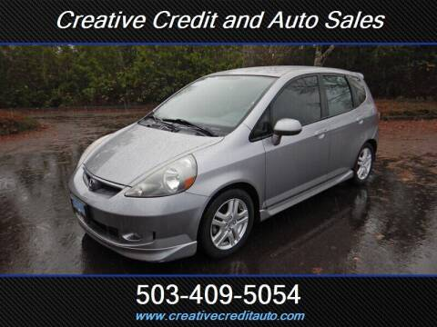 2008 Honda Fit for sale at Creative Credit & Auto Sales in Salem OR