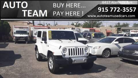 2015 Jeep Wrangler for sale at AUTO TEAM in El Paso TX