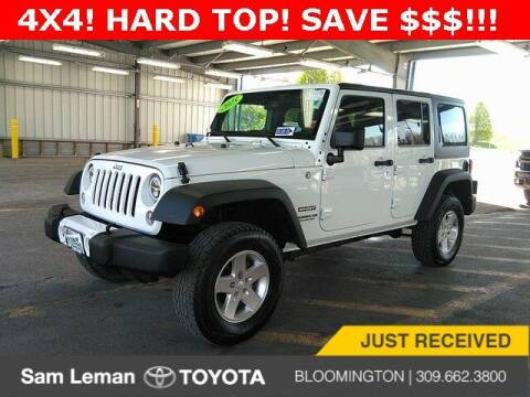 2015 Jeep Wrangler Unlimited for sale at Sam Leman Toyota Bloomington in Bloomington IL