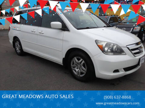 2007 Honda Odyssey for sale at GREAT MEADOWS AUTO SALES in Great Meadows NJ