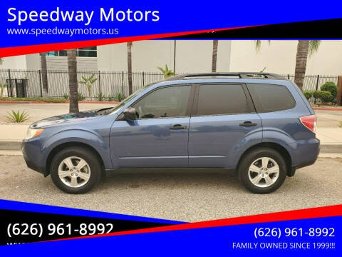 2013 Subaru Forester for sale at Speedway Motors in Glendora CA