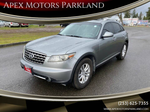 2007 Infiniti FX35 for sale at Apex Motors Parkland in Tacoma WA
