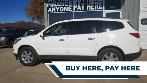 2012 Chevrolet Traverse for sale at STERLING MOTORS in Watertown SD