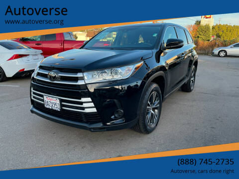 2018 Toyota Highlander for sale at Autoverse in La Habra CA