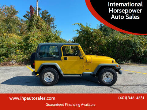 2000 Jeep Wrangler for sale at International Horsepower Auto Sales in Warwick RI