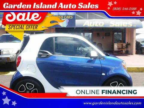 2018 Smart fortwo electric drive for sale at Garden Island Auto Sales in Lihue HI