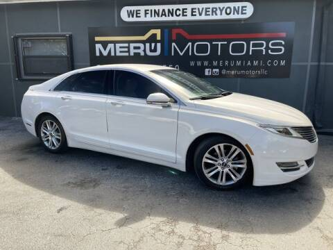 2016 Lincoln MKZ Hybrid for sale at Meru Motors in Hollywood FL