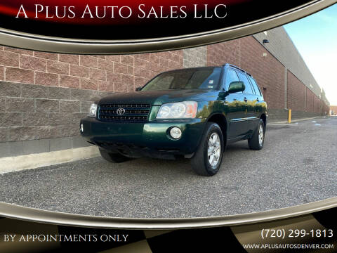 2001 Toyota Highlander for sale at A Plus Auto Sales LLC in Denver CO