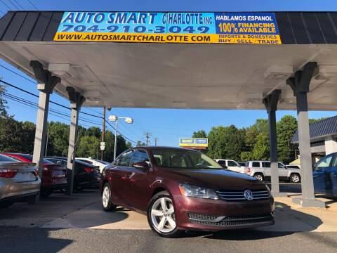 2012 Volkswagen Passat for sale at Auto Smart Charlotte in Charlotte NC