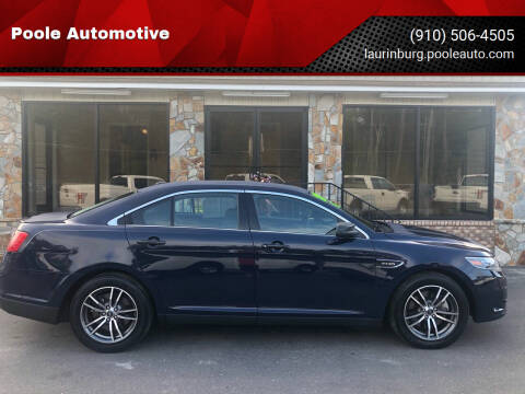 2018 Ford Taurus for sale at Poole Automotive in Laurinburg NC