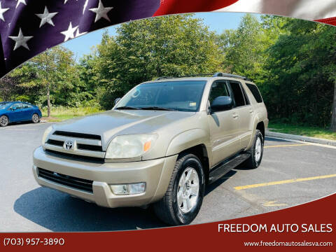 2003 Toyota 4Runner for sale at Freedom Auto Sales in Chantilly VA