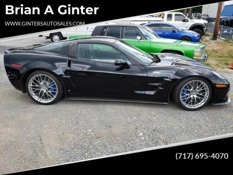 2009 Chevrolet Corvette for sale at Ginters Auto Sales in Camp Hill PA