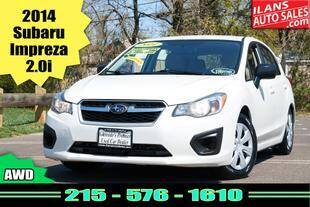 2014 Subaru Impreza for sale at Ilan's Auto Sales in Glenside PA