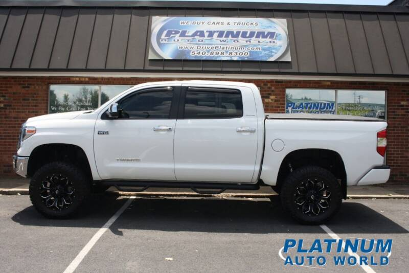 2018 Toyota Tundra for sale at Platinum Auto World in Fredericksburg VA