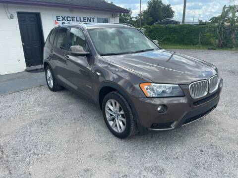 2013 BMW X3 for sale at Excellent Autos of Orlando in Orlando FL
