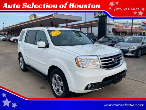 2014 Honda Pilot for sale at Auto Selection of Houston in Houston TX