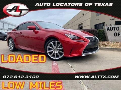 2015 Lexus RC 350 for sale at AUTO LOCATORS OF TEXAS in Plano TX