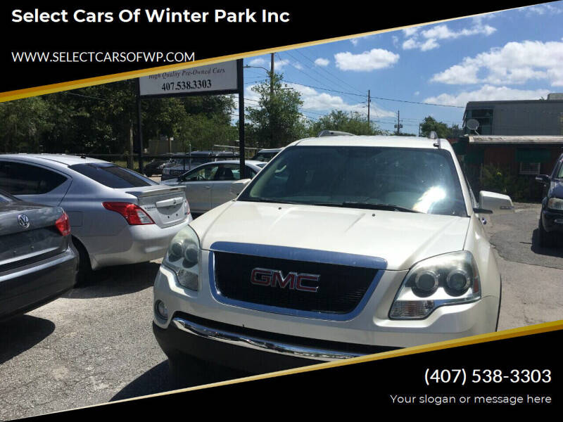 2011 GMC Acadia for sale at Select Cars Of Winter Park Inc in Orlando FL