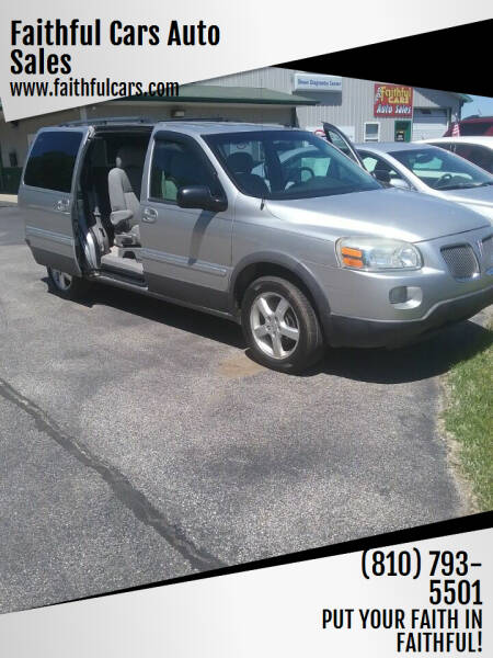 2005 Pontiac Montana SV6 for sale at Faithful Cars Auto Sales in North Branch MI
