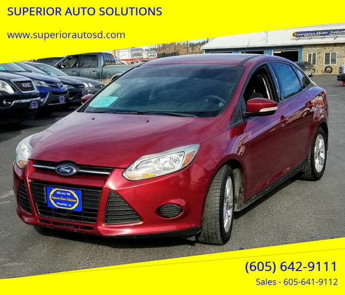 2014 Ford Focus for sale at SUPERIOR AUTO SOLUTIONS in Spearfish SD