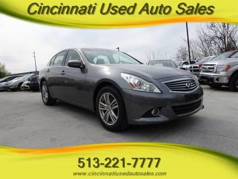 2013 Infiniti G37 Sedan for sale at Cincinnati Used Auto Sales in Cincinnati OH